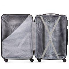 Cestovní kufry sada WINGS CAMARO ABS SILVER L,M,S E-batoh