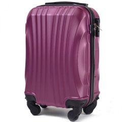 Cestovní kufr WINGS 159 ABS DARK PURPLE malý xS
