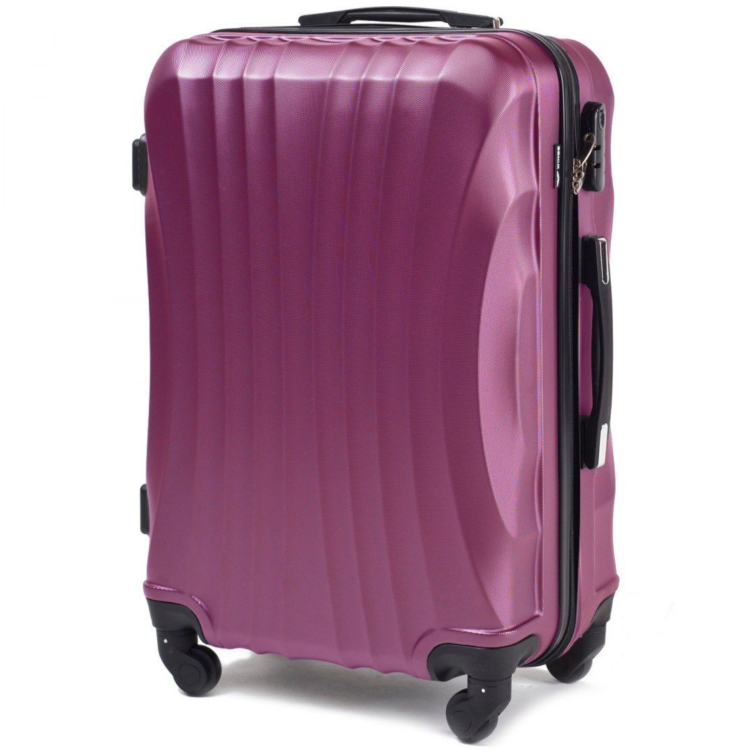 Cestovní kufr WINGS 159 ABS DARK PURPLE velký L