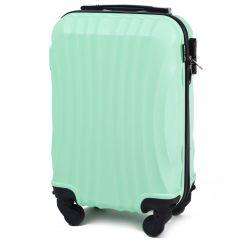 Cestovní kufr WINGS 159 ABS LIGHT GREEN malý xS