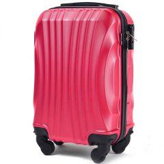 Cestovní kufr WINGS 159 ABS ROSE RED malý xS