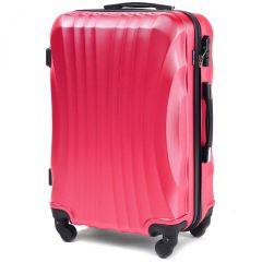 Cestovní kufr WINGS 159 ABS ROSE RED střední M