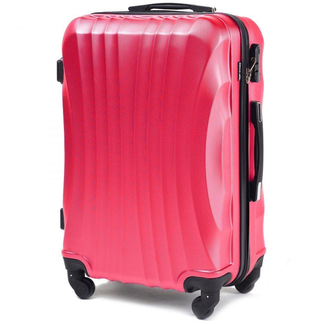 Cestovní kufr WINGS 159 ABS ROSE RED velký L