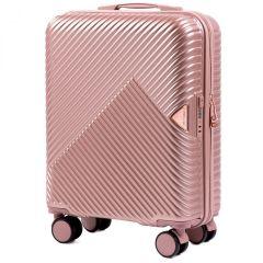 Cestovní kufr WINGS DOVE ABS+TSA ROSE GOLD malý S