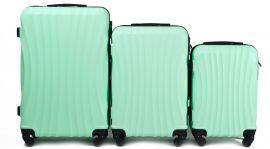 Cestovní kufry sada WINGS 159 ABS LIGHT GREEN L,M,S