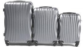 Cestovní kufry sada WINGS 159 ABS SILVER L,M,S