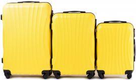 Cestovní kufry sada WINGS 159 ABS YELLOW L,M,S