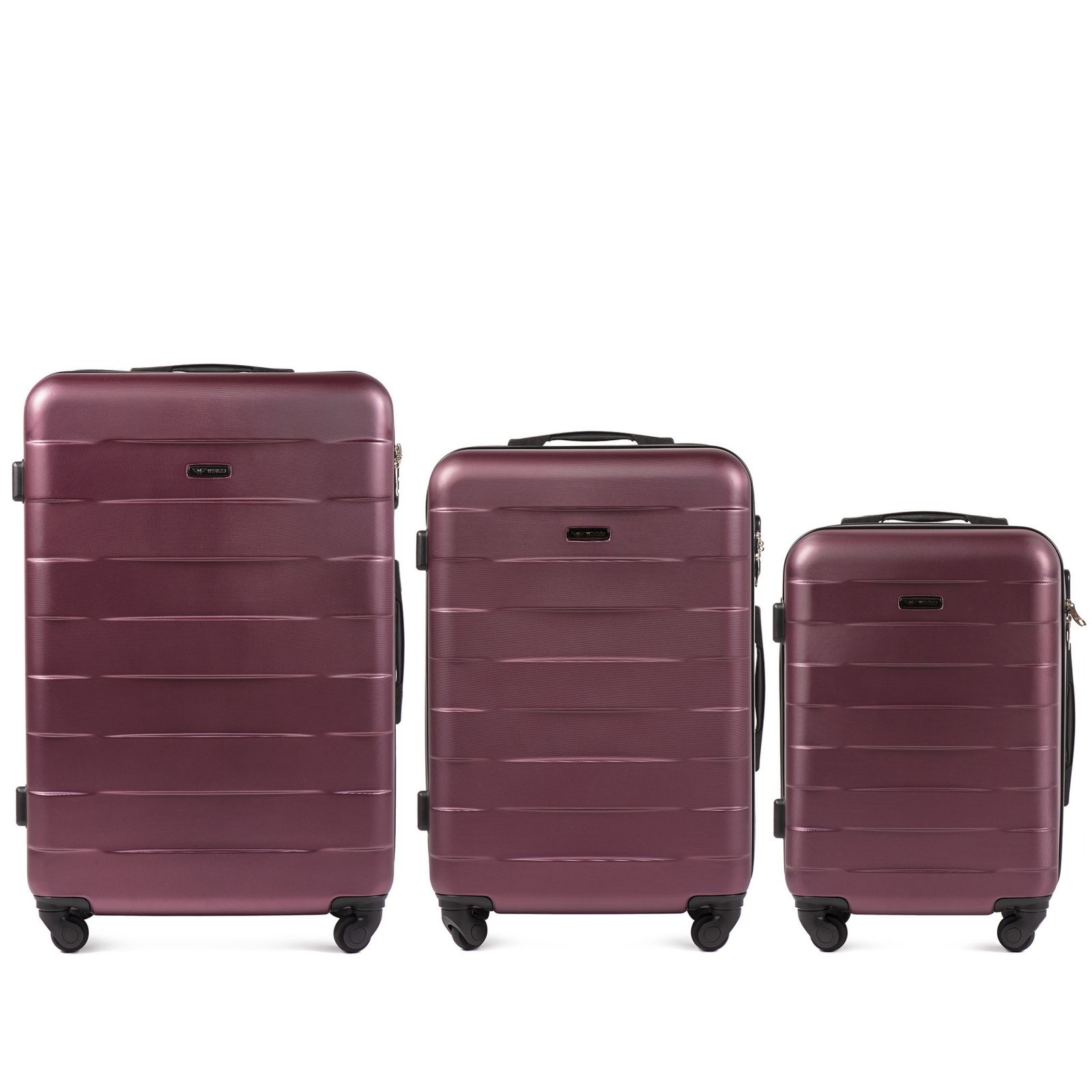 Cestovní kufry sada WINGS CAMARO ABS BURGUNDY L,M,S