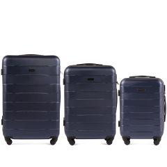 Cestovní kufry sada WINGS CAMARO ABS DARK BLUE L,M,S
