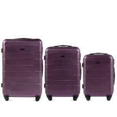 Cestovní kufry sada WINGS CAMARO ABS DARK PURPLE L,M,S