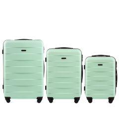 Cestovní kufry sada WINGS CAMARO ABS LIGHT GREEN L,M,S