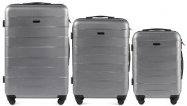 Cestovní kufry sada WINGS CAMARO ABS SILVER L,M,S