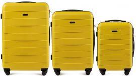 Cestovní kufry sada WINGS CAMARO ABS YELLOW L,M,S