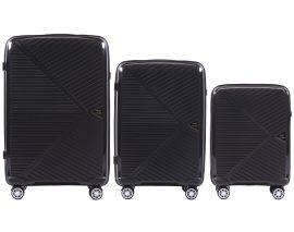 Cestovní kufry sada WINGS MALLARD ABS POLIPROPYLEN BLACK L,M,S