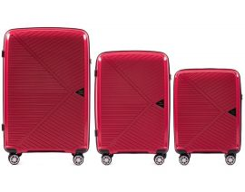 Cestovní kufry sada WINGS MALLARD ABS POLIPROPYLEN RED L,M,S