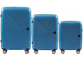 Cestovní kufry sada WINGS MALLARD ABS POLIPROPYLEN BLUE L,M,S