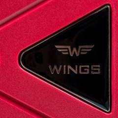 Cestovní kufry sada WINGS MALLARD ABS POLIPROPYLEN RED L,M,S E-batoh