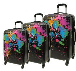 Cestovní kufry sada ABS COLOR-MIX L,M,S
