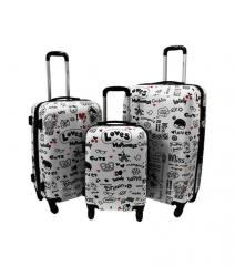 Cestovní kufry sada ABS LOVES L,M,S