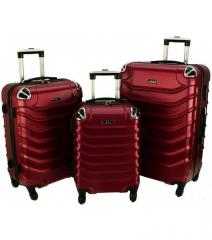 Cestovní kufry sada RGL 730 ABS DARK RED L,M,S