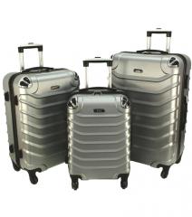 Cestovní kufry sada RGL 730 ABS SILVER L,M,S