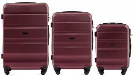 Cestovní kufry sada WINGS LOVEBIRD ABS BURGUNDY L,M,S