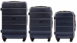 Cestovní kufry sada WINGS LOVEBIRD ABS DARK BLUE L,M,S