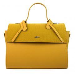 Stylová dámská kabelka S754 hořčicová žlutá GROSSO