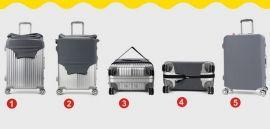 Obal na kufr Plameňák růžový velký XL E-batoh