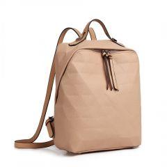 Béžový dámský elegantní batoh Miss Lulu Lulu Bags (Anglie) E-batoh