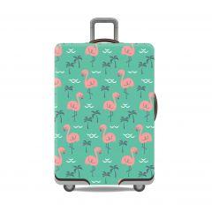 Obal na kufr Plameňák růžový velký XL
