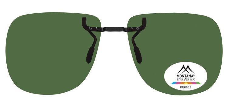 MONTANA EYEWEAR Polarizační KLIP NA BRÝLE 1972B se zelenou čočkou