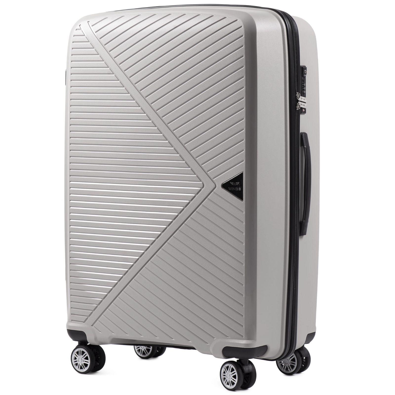 skořepinový cestovní kufr WINGS MALLARD ABS POLIPROPYLEN BEIGE velký L