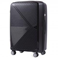 skořepinový cestovní kufr WINGS MALLARD ABS POLIPROPYLEN BLACK velký L