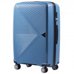 Cestovní kufr WINGS MALLARD ABS POLIPROPYLEN BLUE velký L