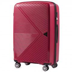 Cestovní kufr WINGS MALLARD ABS POLIPROPYLEN RED velký L