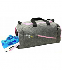 Sportovní taška RODOS 28 - šedá+červený zip 40L RGL E-batoh