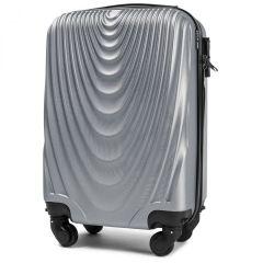 Cestovní kufr WINGS 304 ABS SILVER malý S