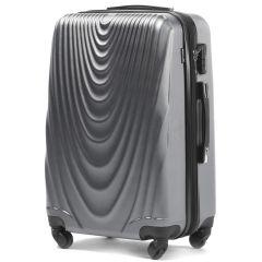 skořepinový cestovní kufr WINGS 304 ABS SILVER velký L