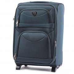 Cestovní kufr WINGS 6802 DARK GREEN malý S