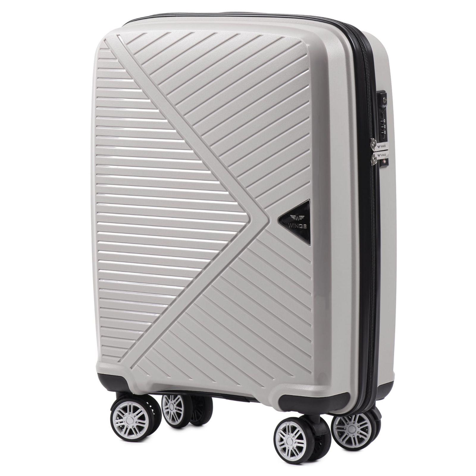 skořepinový cestovní kufr WINGS MALLARD ABS POLIPROPYLEN BEIGE malý S