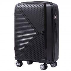Cestovní kufr WINGS MALLARD ABS POLIPROPYLEN BLACK střední M