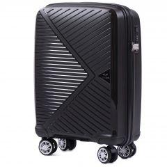 Cestovní kufr WINGS MALLARD ABS POLIPROPYLEN BLACK malý S