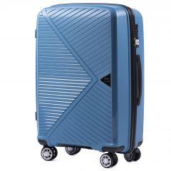 Cestovní kufr WINGS MALLARD ABS POLIPROPYLEN BLUE střední M