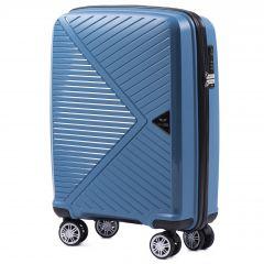 Cestovní kufr WINGS MALLARD ABS POLIPROPYLEN BLUE malý S
