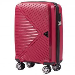 Cestovní kufr WINGS MALLARD ABS POLIPROPYLEN RED malý S
