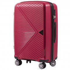 Cestovní kufr WINGS MALLARD ABS POLIPROPYLEN RED střední M