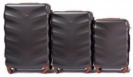 Cestovní kufry sada WINGS 402 ABS DARK GREY L,M,S