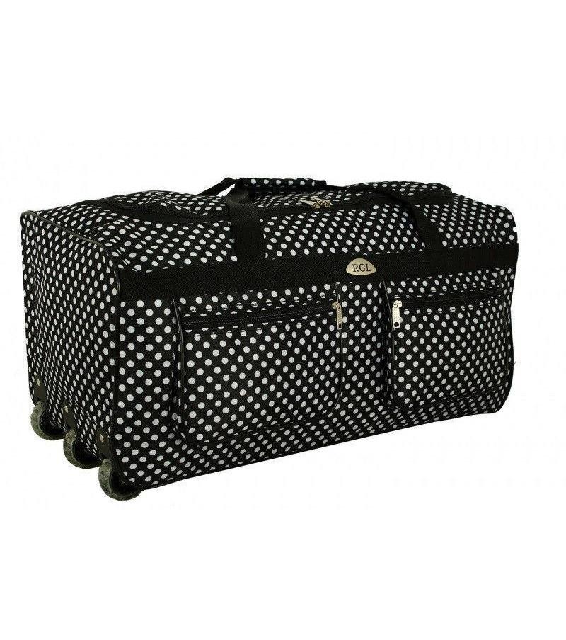 Cestovní taška na kolečkách RODOS A1 BLACK- DOT- 100L
