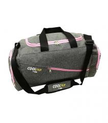 Sportovní taška RODOS 28 - šedá+růžový zip 40L RGL E-batoh